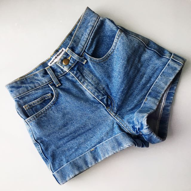 American Apparel high-waisted shorts size 24 (XS)