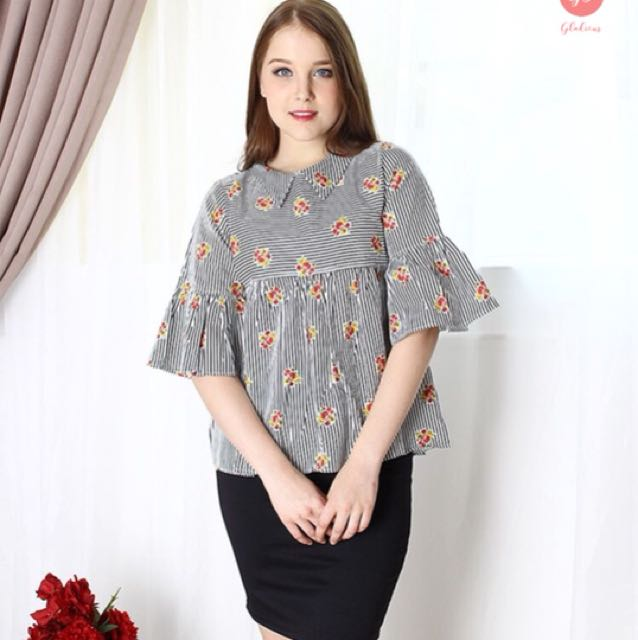 Audie floral blouse