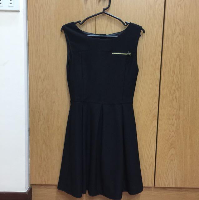 Audrey Wu Little Black Sleeveless Dress