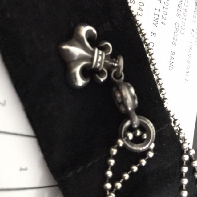 de07e92e6d19 Authentic Chrome hearts necklace Charm 1 Ball BS Fleur one-ball-BS ...