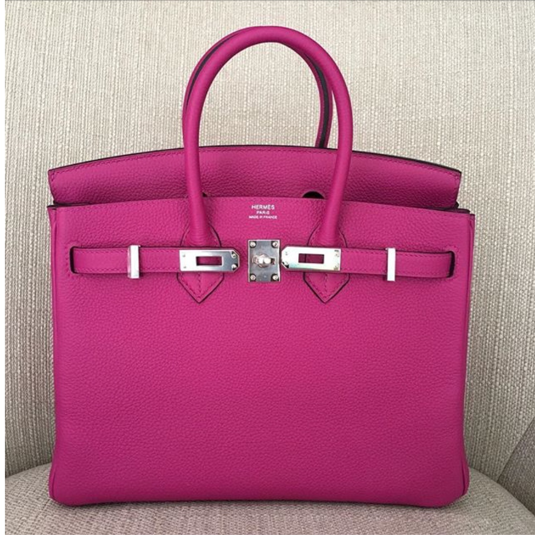 Authentic Hermes Birkin 25 Rose Pourpre Togo Phw Stamp A Luxury