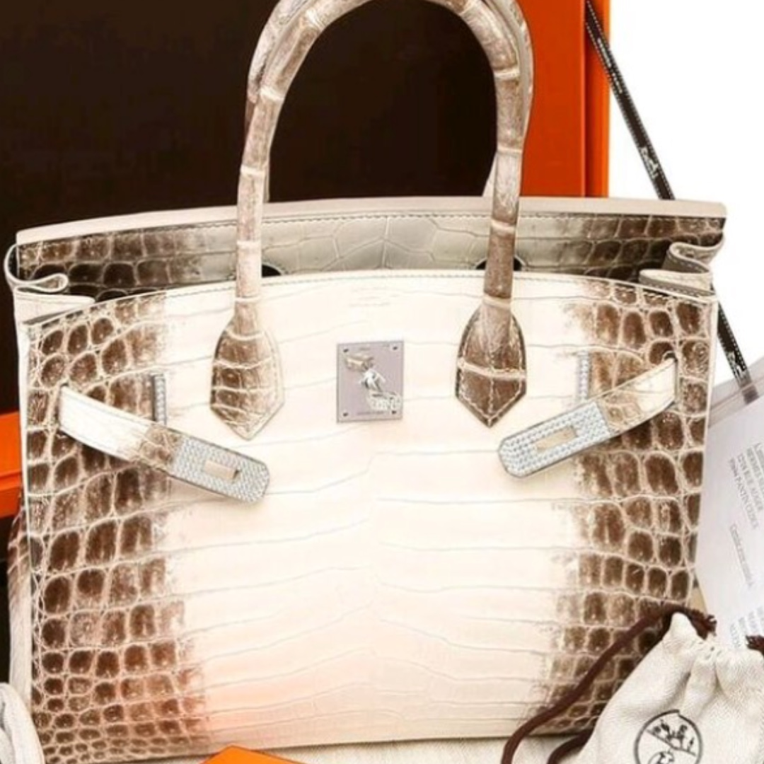 c962d26c42 Authentic Hermes Birkin diamond Himalayan stamp T