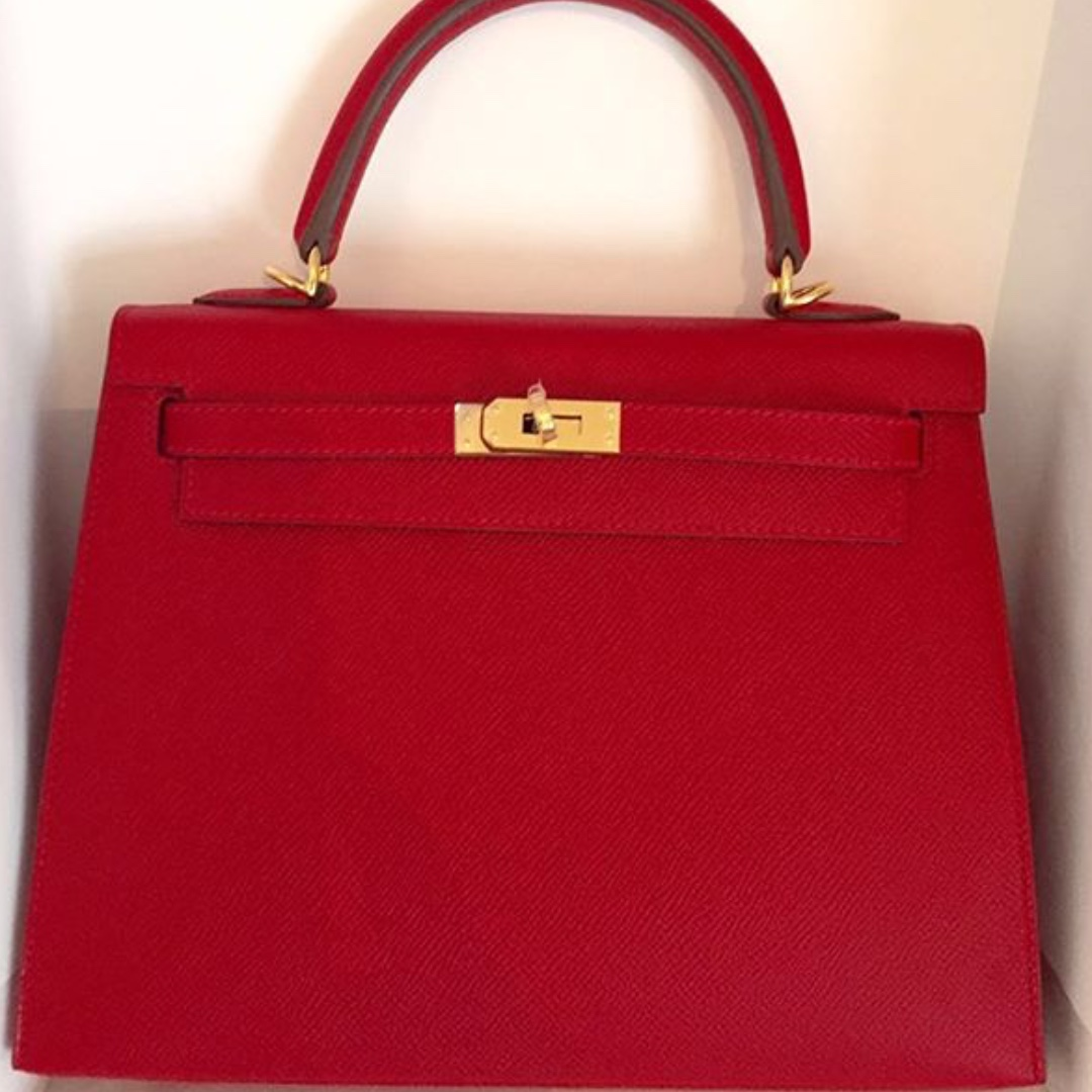 152cc338a29 ... coupon code for authentic hermes kelly 25 rc epsom sellier ghw stamp x  luxury bags wallets