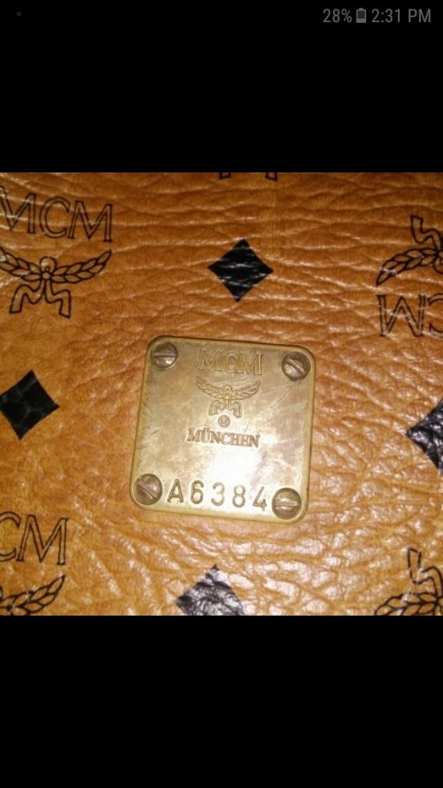 Authentic Mcm bucket bag
