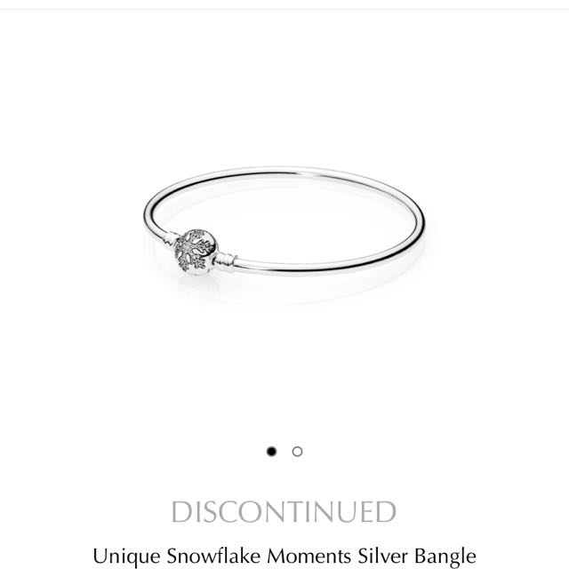 Authentic Pandora Snowflake Limited Edition Bangle