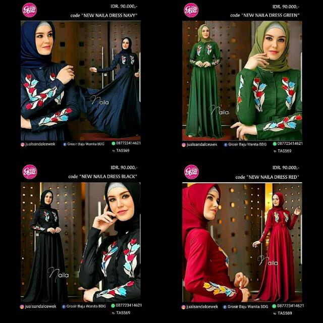 Baju Muslim Wanita New Naila Dress Women S Fashion Muslim