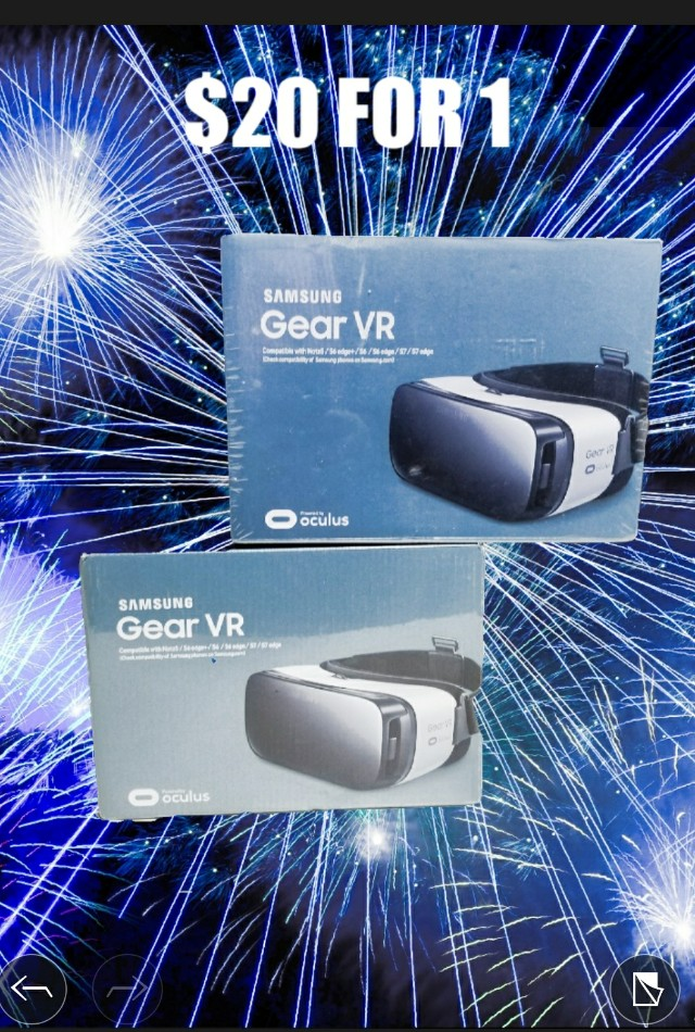 BAND NEW! Samsung Gear VR Virtual Reality Headset for Galaxy S6, S6 edge, S7, and more - SM-R322 - Frost White