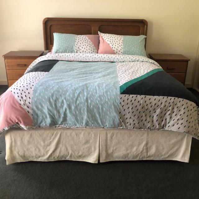 Bedroom Suite (Double Bed) 4 Piece Set