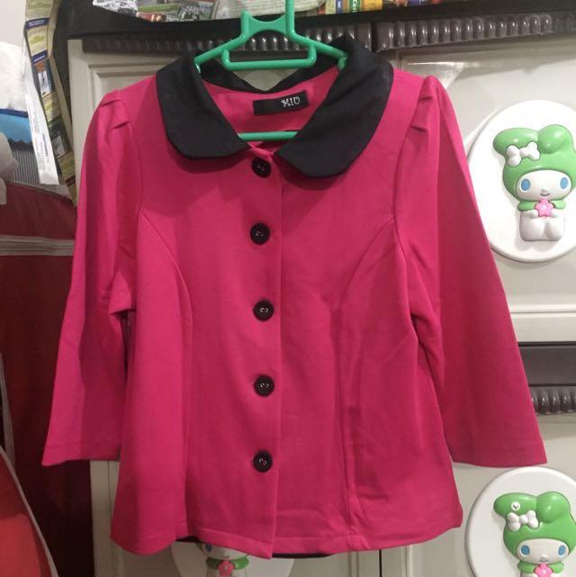 Blazer Shocking Pink (Lengan 3/4)