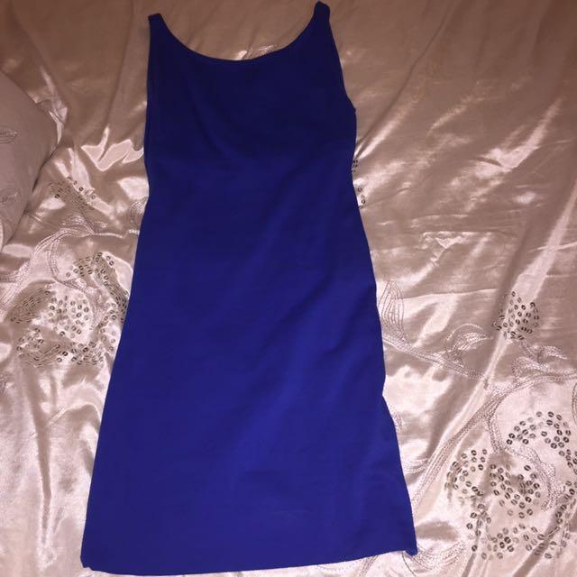Blue blackless kookai dress