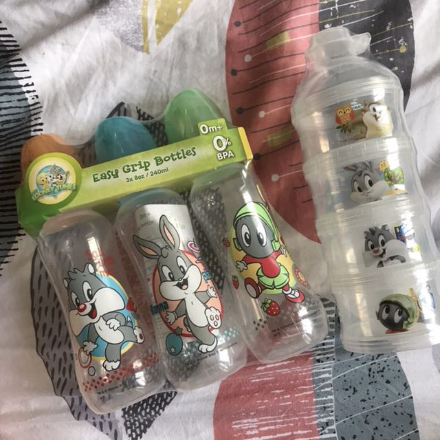 Bottles and canister