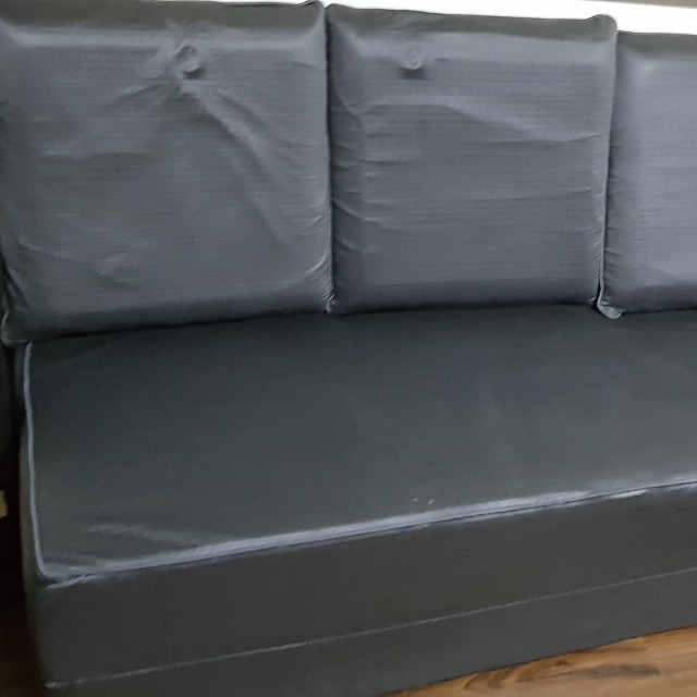 Amazing Brand New Metalic Blue Sofa Bed Still In Plastic Covers Beutiful Home Inspiration Semekurdistantinfo