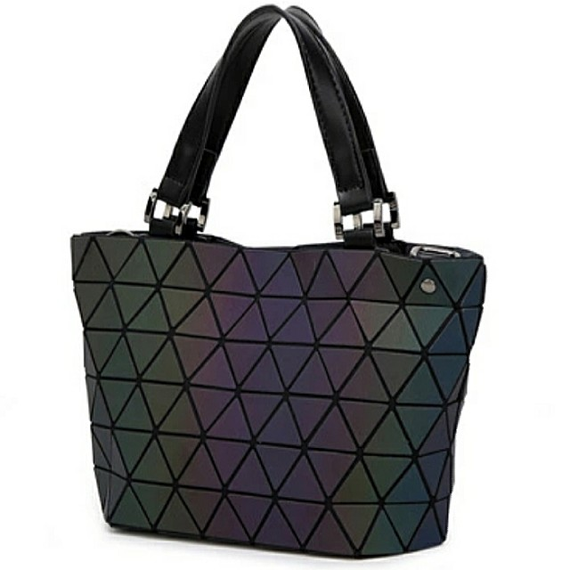 ae773081d872 BRAND NEW Small Matte Black Luminous Issey Miyake BAOBAO Inspired Rhombic  Geometric 2-way Bucket Bag   Sling Bag   Shoulder Bag   Tote Bag