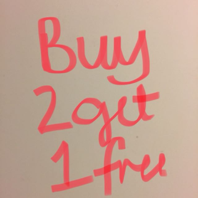 Buy 2 get cheapest item free