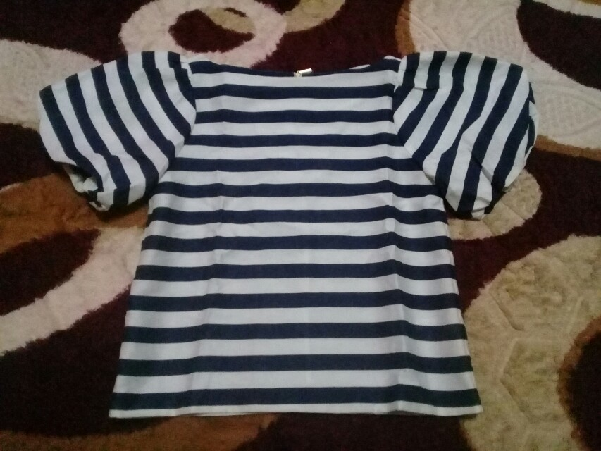 BYSI tops stripe puff blouse