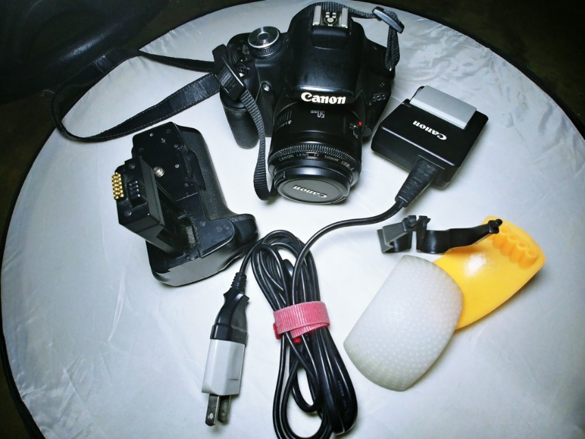 Canon 500d with battery grip