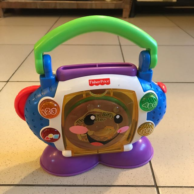 CD player interactive toy