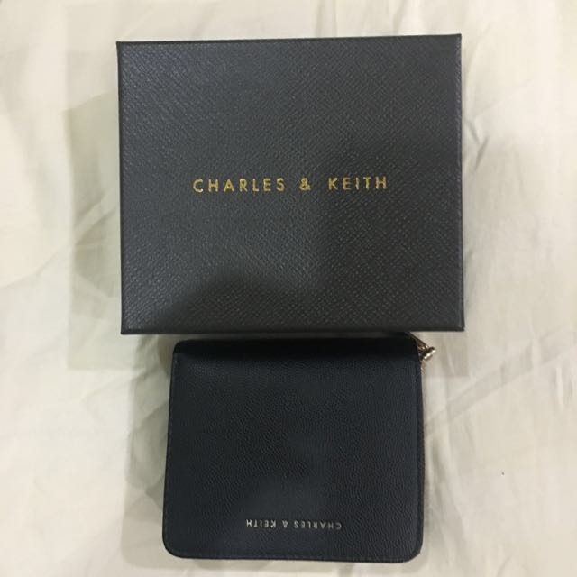 Charles And Keith Small Black Wallet