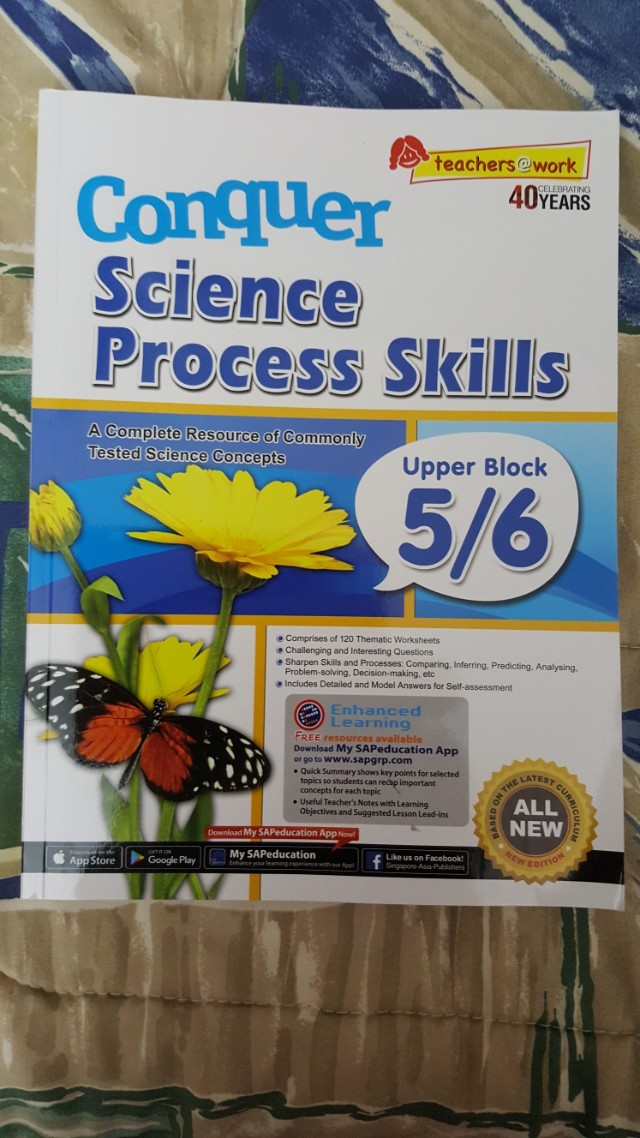 Conquer Science Process Skills For Primary 56 Books Stationery