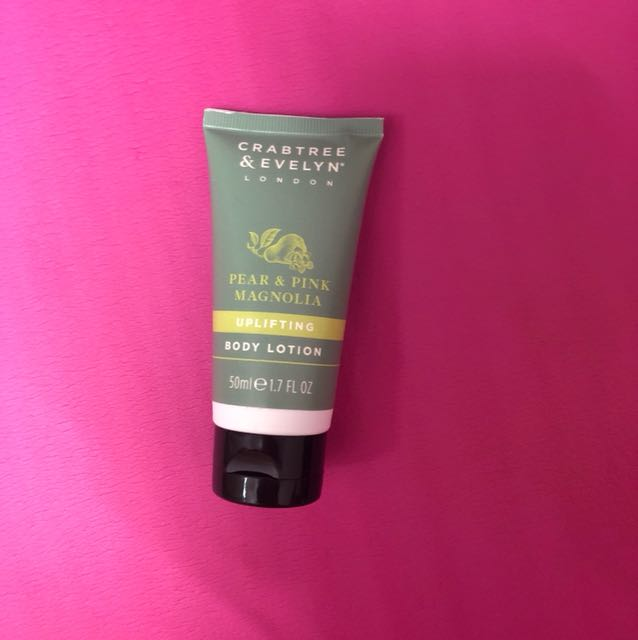 Crabtree and Evelyn pear and pink magnolia body lotion