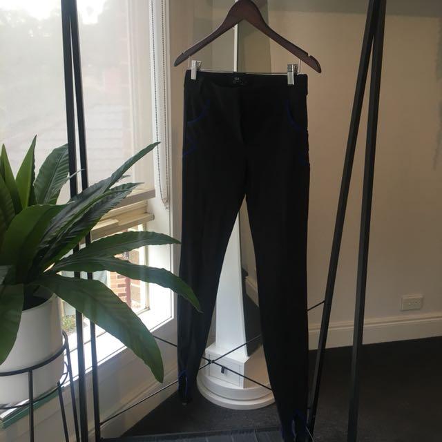 cue // suit pants