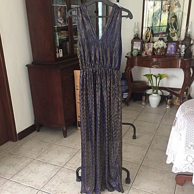 Dark blue shimmery gown