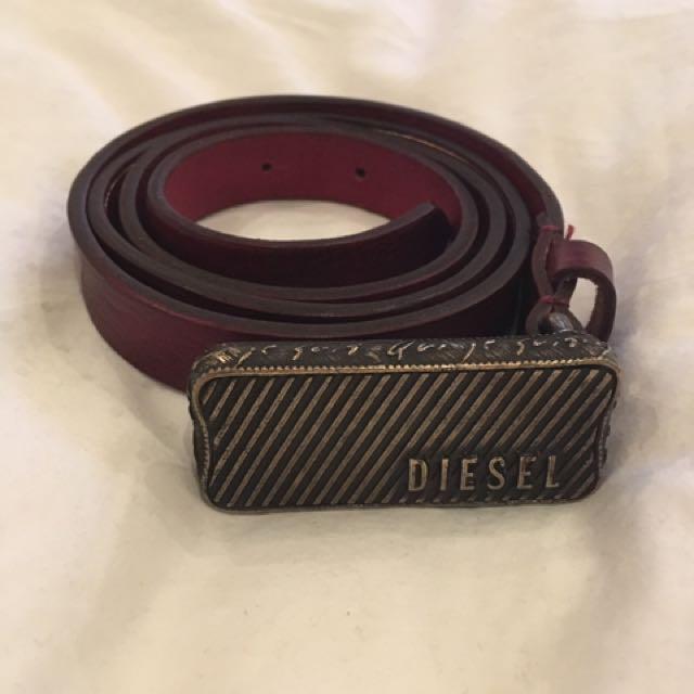 Diesel Leather Bivin Belt