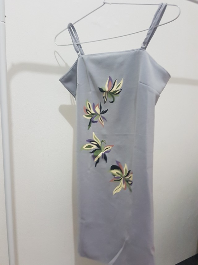 Dress flower grey