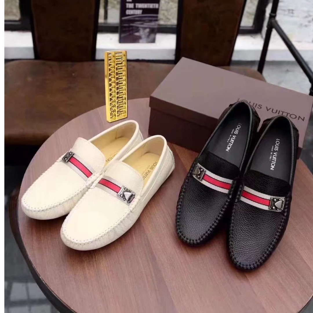 989f8e7f9072 EAWEDGOS 2018 All Size Louis Vuitton LV Leather Formal Casual Shoe ...