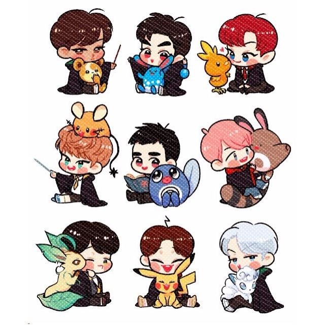 EXO fanart stickers (EXOWARTS), K-Wave on Carousell