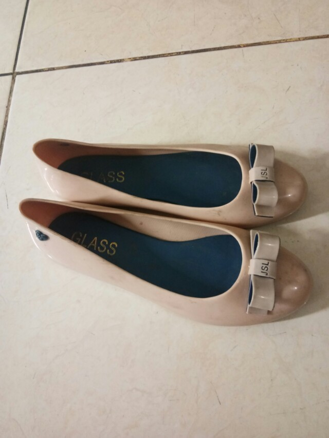 Flat Shoes Jelly Nude Pink