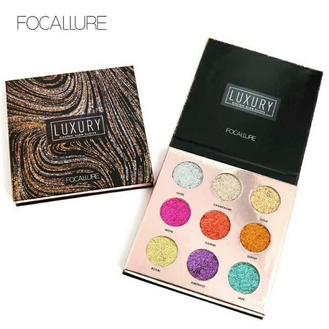 Focallure Luxury Electric Glow Glitter Palette Eyeshadow