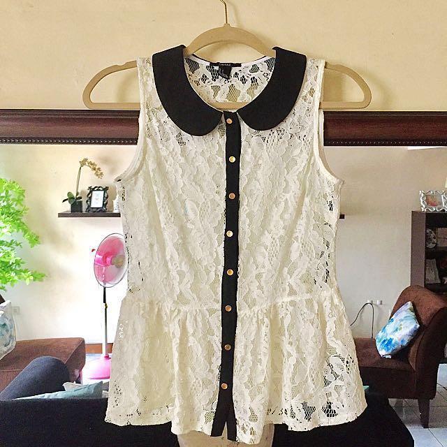 Forever21 Peplum Lace Top