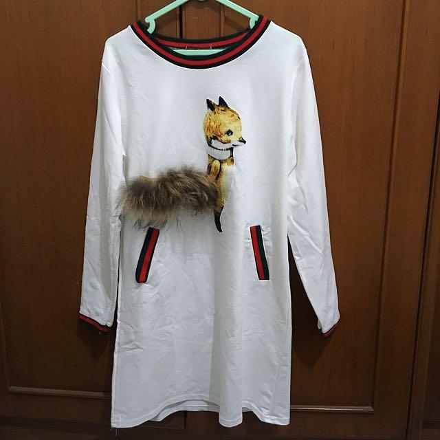 Fox Fur Dress