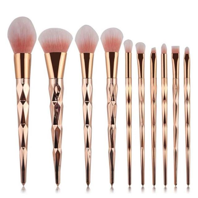 (Free Postage) pink gold makeup brush mermaid