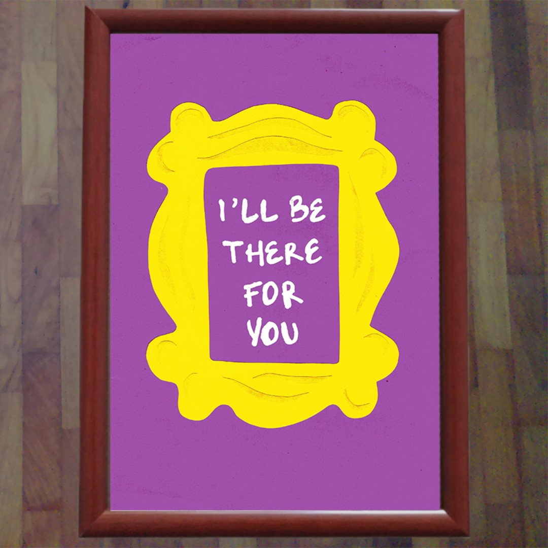 FRIENDS TV Series Wall Art Photo Frame, Furniture on Carousell