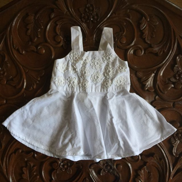 Gingersnaps All White Floral Dress
