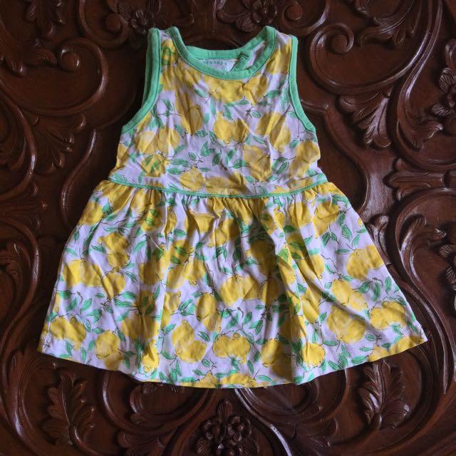 Gingersnaps Lemon Print Dress