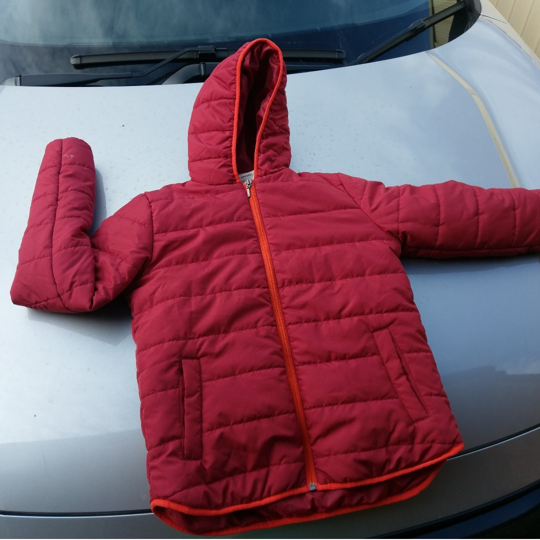 GIODARNO Red Puffer Jacket