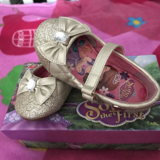 Gold shoes for baby