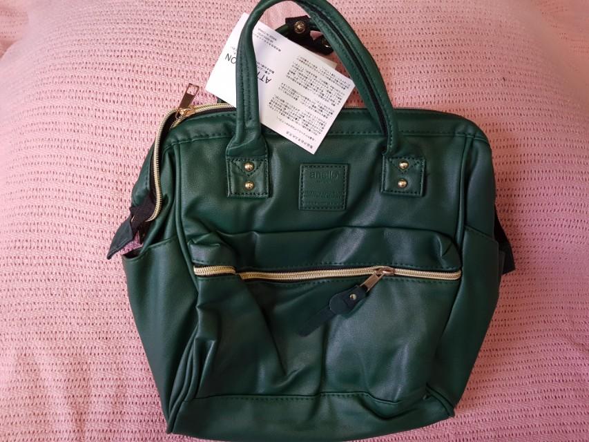 Green Anello 3 way bag