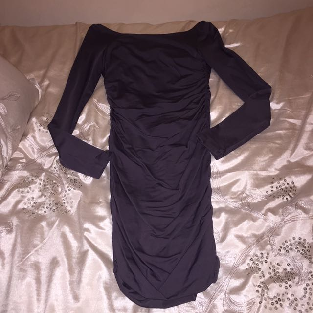 Grey backless kookai dress