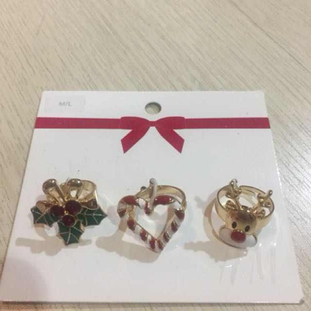 H&M Holiday Rings