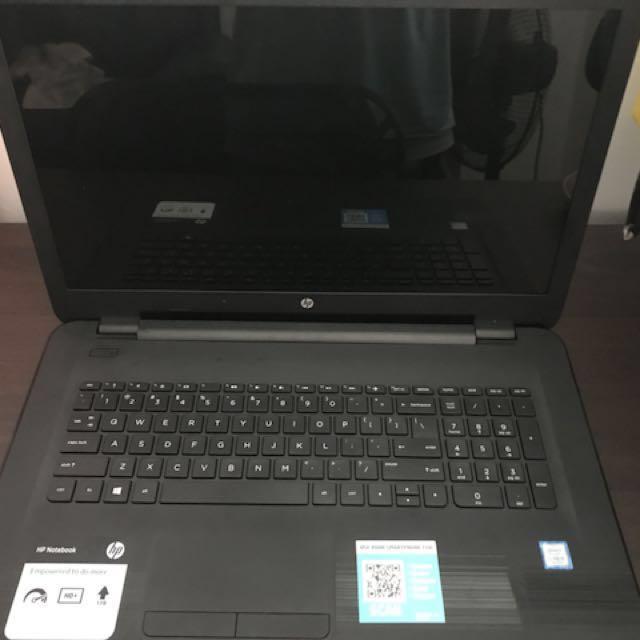"HP Notebook 17.3"" I5-7200u 2.5ghz 8gb 1tb Windows 10 Home DVD RW Black 17-x116dx"