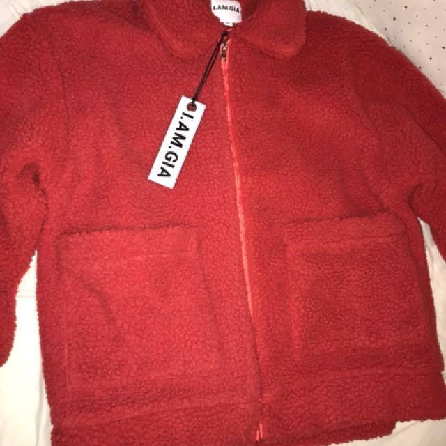 I.AM.GIA RED PIXIE COAT