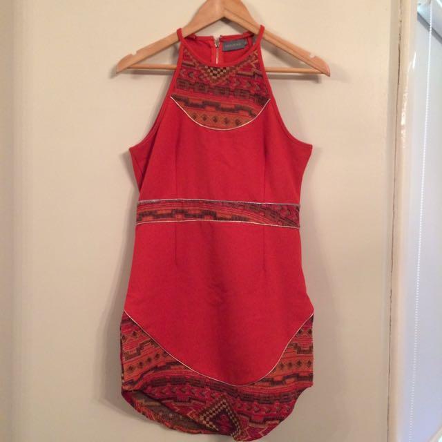 Indikah high neck Mini dress