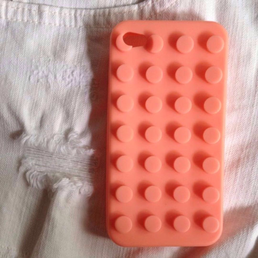 iPhone 4S Lego Case (Pink)
