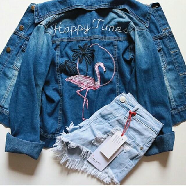 Jaket Jeans Flamingo