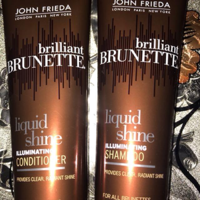 John Frieda shampoo & conditioner for brunettes