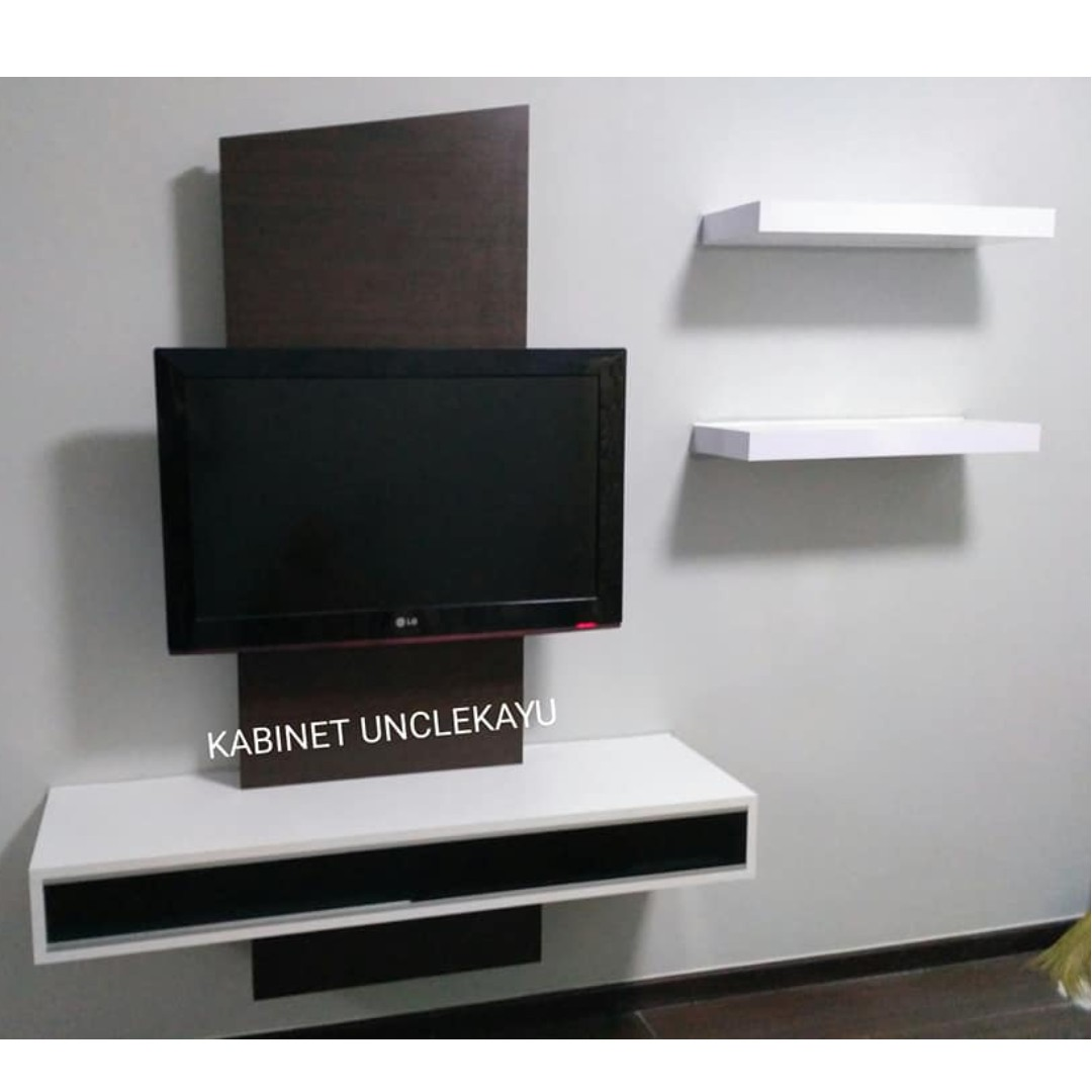 Kabinet Tv Gantung Murah Floating Tv Cabinet Home Furniture Furniture On Carousell